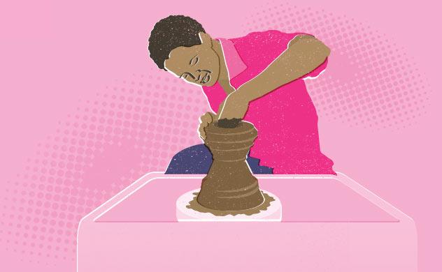 Illustration of potter