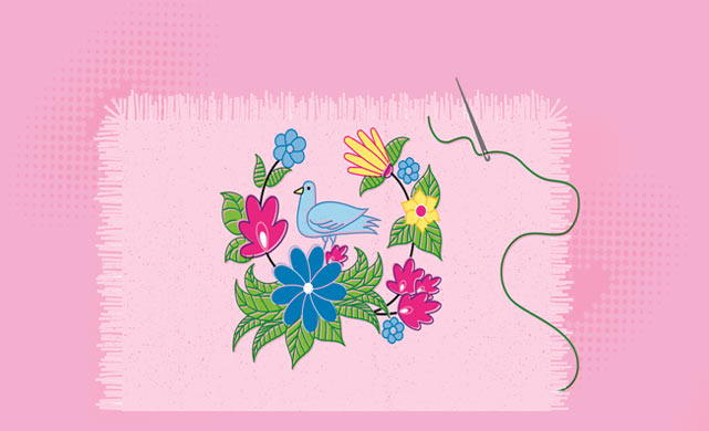 Illustration of embroidery